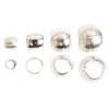 Beadalon Crimp Bead Variety Pack #0-3 Plated Silver